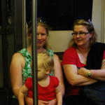 Sarah and Zoe and Susan on the train